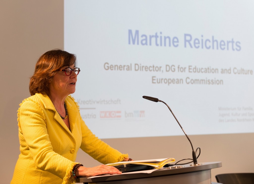 """The future of the Creative Industries is making the link between science and creativity"" Martine Reicherts, General Director of DG Education and Culture"