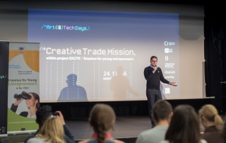 Michal Hladky, Director of Creative Industries Kosice (CIKE) opening the second day of the Creative Trade Mission